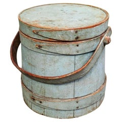 Pantry Bucket or Firkin in Original Painted Surface, New England, circa 1850