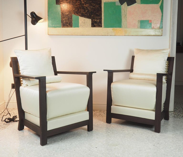 Italian Paola Navone Pair of Armchairs Mod. Otto for Gervasoni, Italy, 1990s For Sale