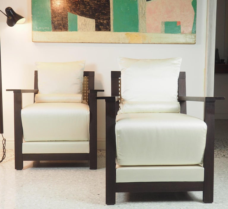 Late 20th Century Paola Navone Pair of Armchairs Mod. Otto for Gervasoni, Italy, 1990s For Sale