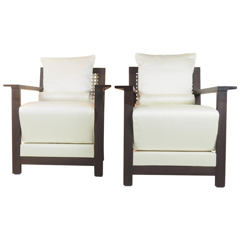 Paola Navone Pair of Armchairs Mod. Otto for Gervasoni, Italy, 1990s For Sale