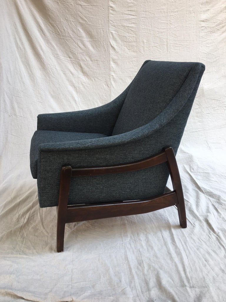 American Paoli Upholstered Rocking Lounge Chair For Sale