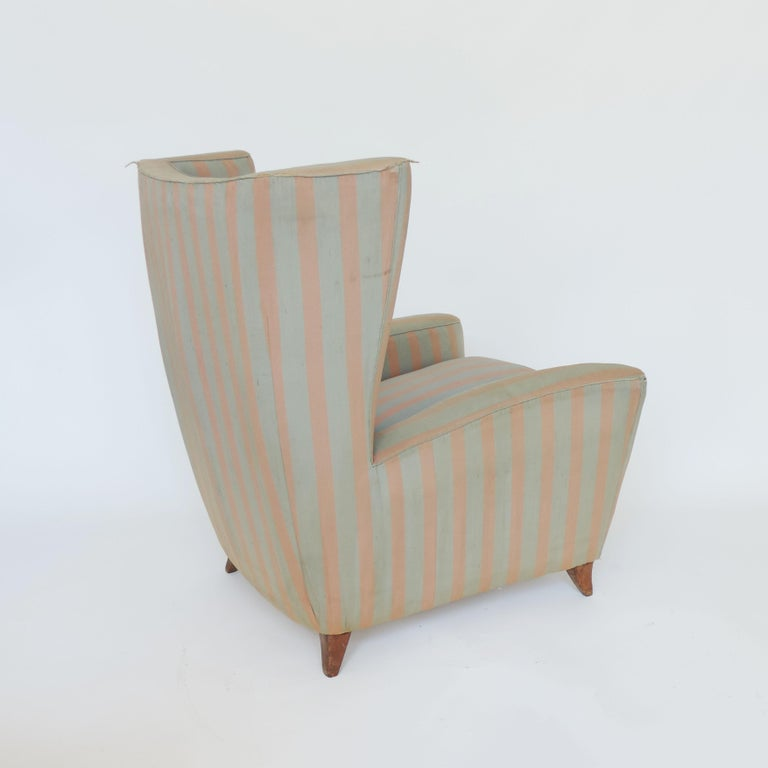 A spectacular Paolo Buffa 1940s armchair in original fabric.