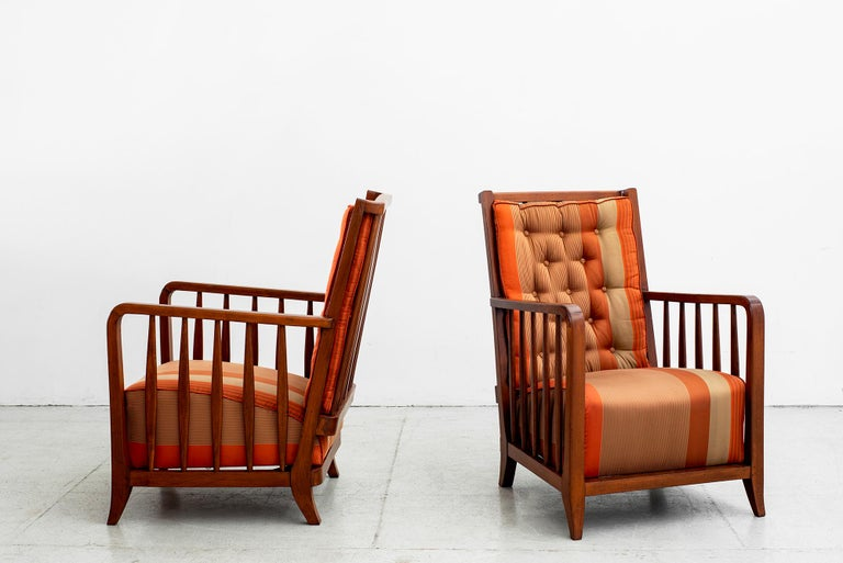 Pair of Paolo Buffa armchairs, Italy, circa 1940s