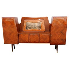 Paolo Buffa Attributed Rosewood Parquetry Buffet