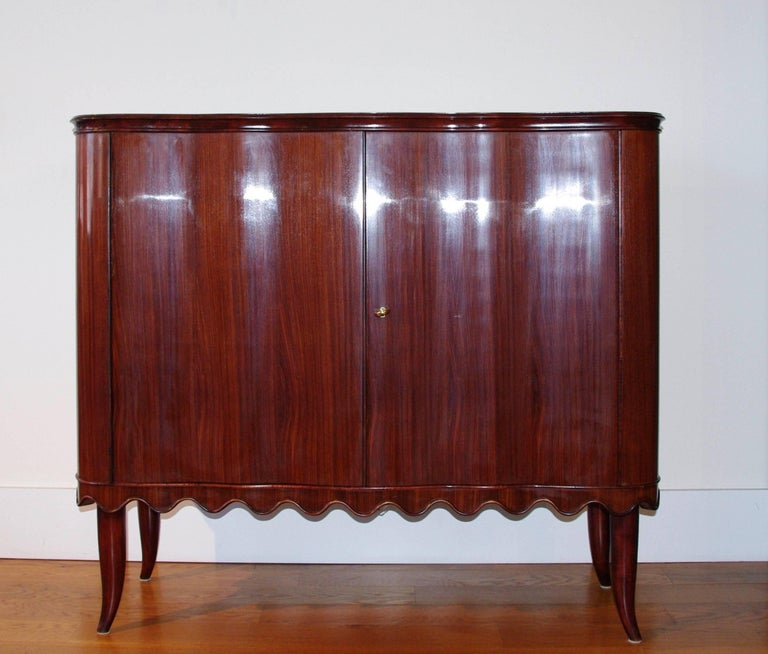 Mid-Century Modern Paolo Buffa Bar Cabinet, Italy, 1940 For Sale
