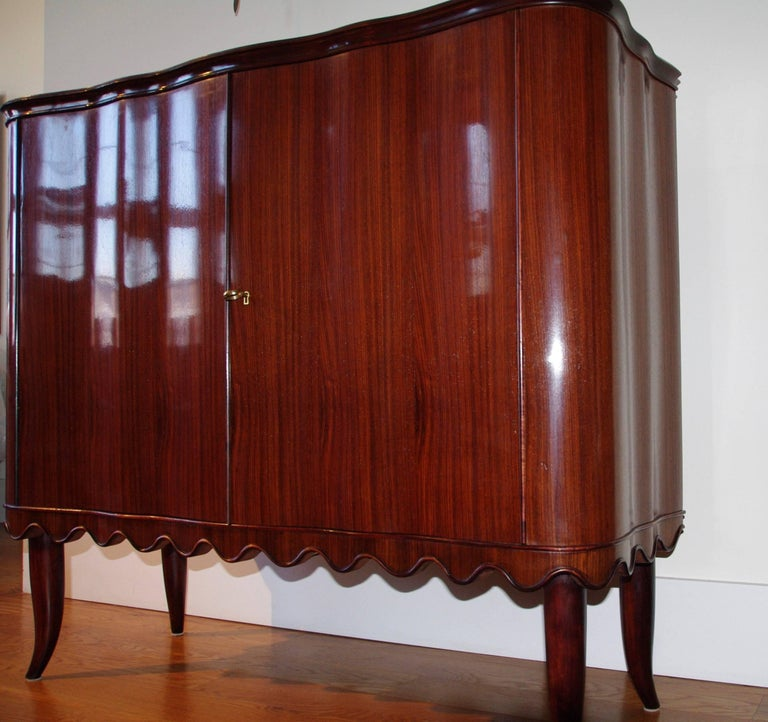 Paolo Buffa Bar Cabinet, Italy, 1940 In Good Condition For Sale In Jersey City, NJ