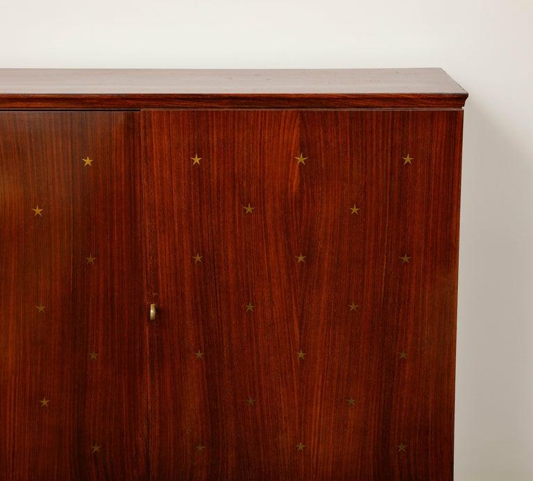 Mahogany Paolo Buffa Bar Cabinet, Italy, 1950s-1960s For Sale