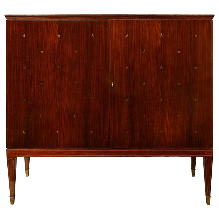 Paolo Buffa Bar Cabinet, Italy, 1950s-1960s For Sale