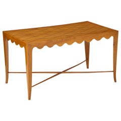 Paolo Buffa Coffee Table with Scalloped Apron, Italy, circa 1950