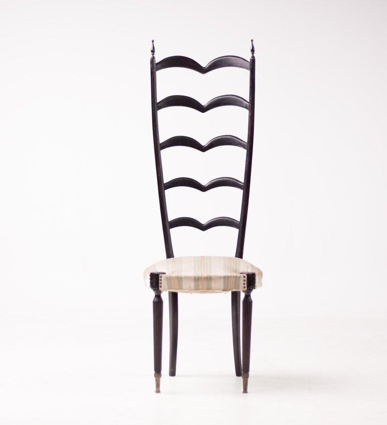 Italian Paolo Buffa High Back Side Chair For Sale