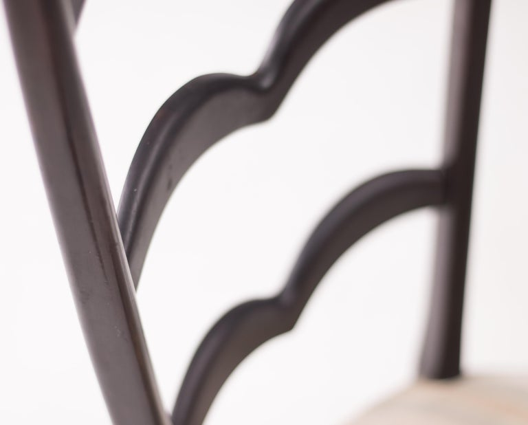 Lacquered Paolo Buffa High Back Side Chair For Sale