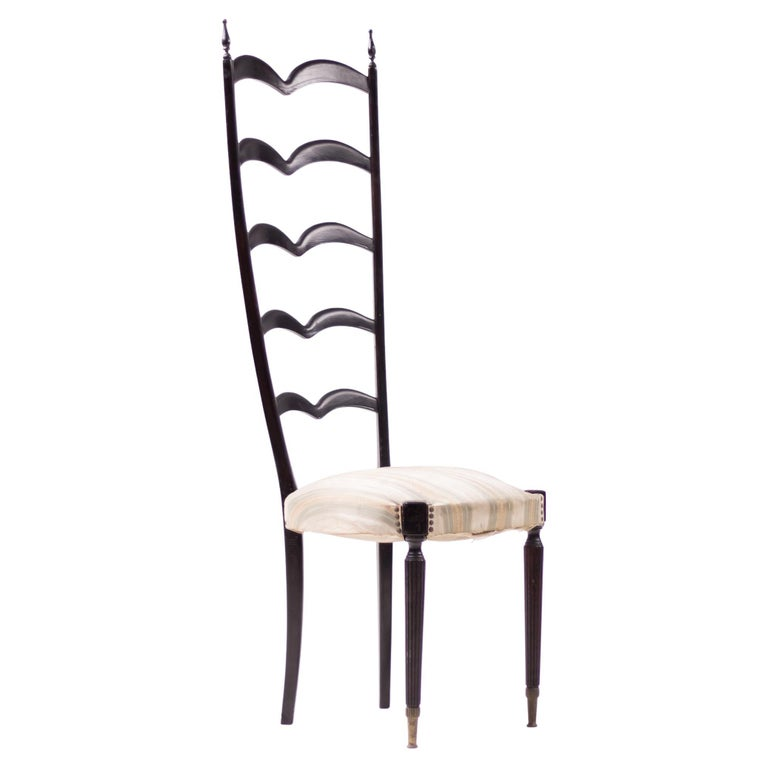 Paolo Buffa High Back Side Chair For Sale
