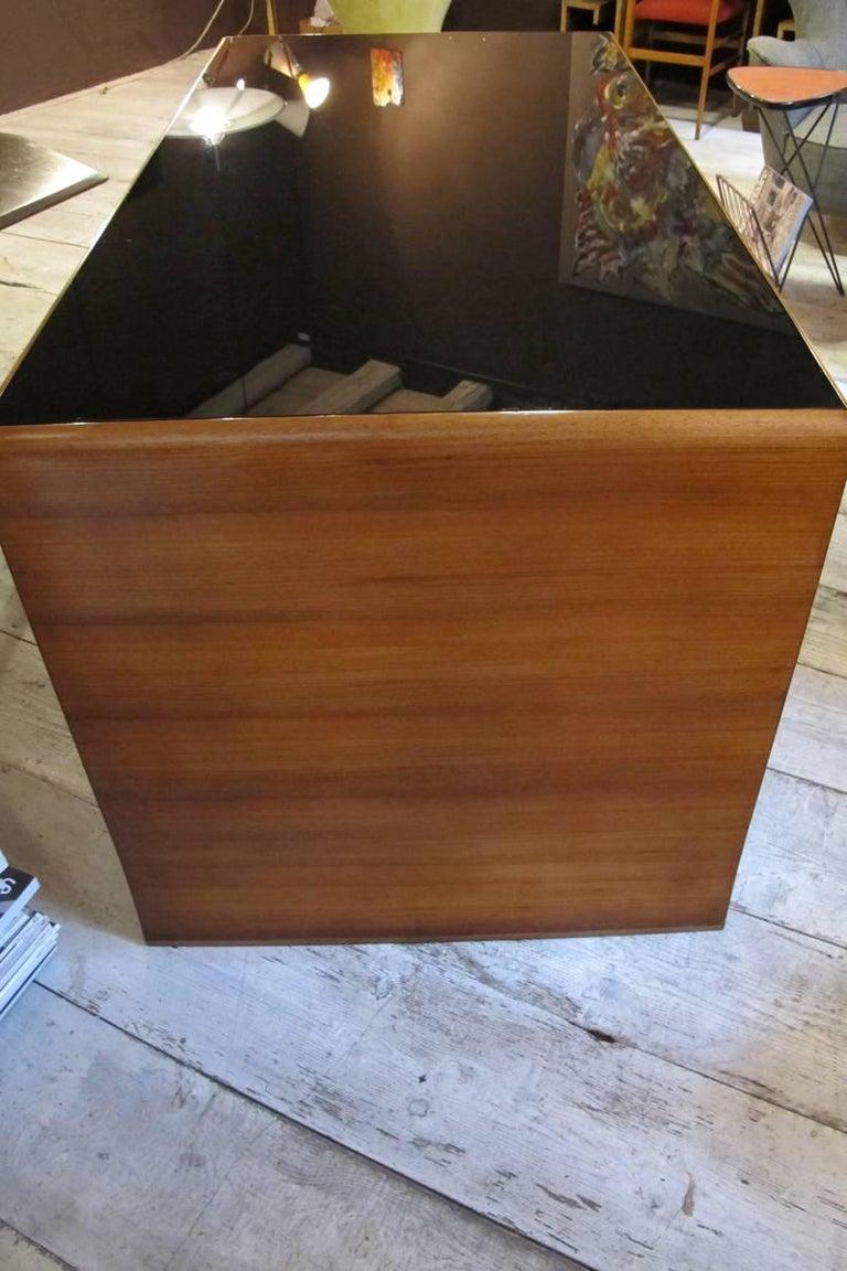 """""""Paolo Buffa"""" Important Desk in Walnut, 1940, Top in Black Opal For Sale 1"""