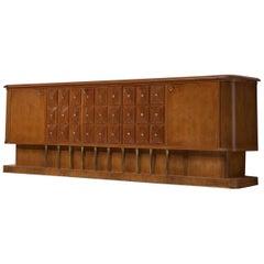 Paolo Buffa Large Art Deco Sideboard in Walnut