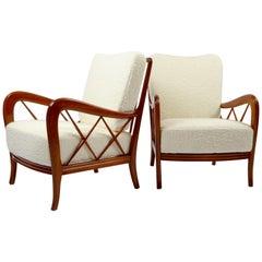 Paolo Buffa, Lounge Chairs, 1 Pair, 1950s