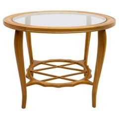 Paolo Buffa Mid-Century Modern Italian Natural Beech Coffee Table, 1945