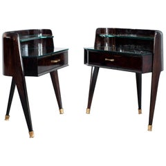 Nighstands in the style of Paolo Buffa, possibly made by Dassi, circa 1955