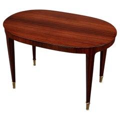 Paolo Buffa Oval Side or Coffee Table, Italy, ca. 1950