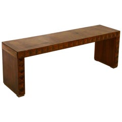 Paolo Buffa Rare Italian Bench in Walnut in Technique, 1940s