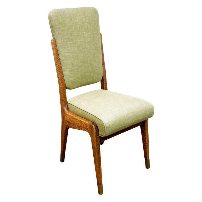 Modern Paolo Buffa Set of Four Handcrafted Dining / Game Chairs, circa 1940 For Sale