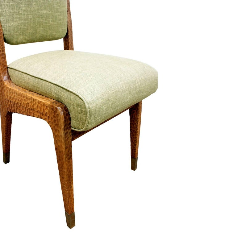 Hand-Carved Paolo Buffa Set of Four Handcrafted Dining / Game Chairs, circa 1940 For Sale