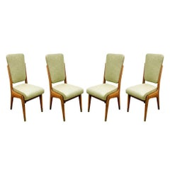Paolo Buffa Set of Four Handcrafted Dining / Game Chairs, circa 1940