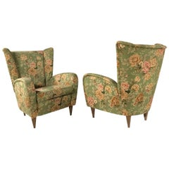 Paolo Buffa Style Armchairs, Pair