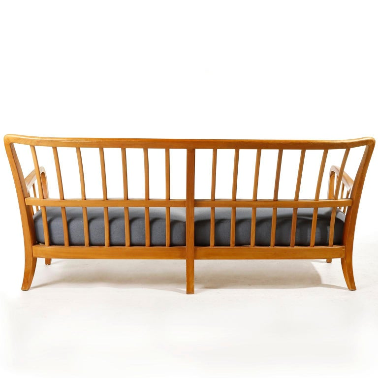 Bench Seette Seat by Thonet, Attributed to Josef Frank, Wood, 1940 For Sale 3