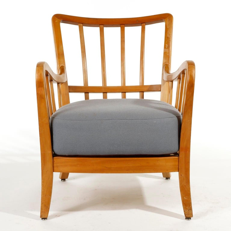 Bench Seette Seat by Thonet, Attributed to Josef Frank, Wood, 1940 For Sale 4