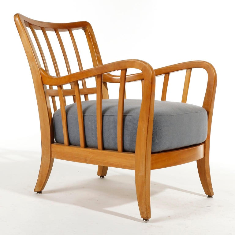 Bench Seette Seat by Thonet, Attributed to Josef Frank, Wood, 1940 For Sale 5