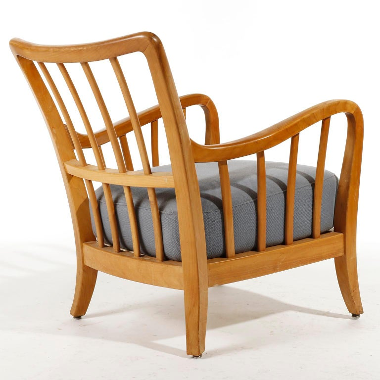 Bench Seette Seat by Thonet, Attributed to Josef Frank, Wood, 1940 For Sale 7