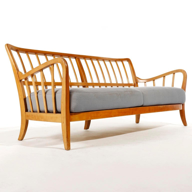 Austrian Bench Seette Seat by Thonet, Attributed to Josef Frank, Wood, 1940 For Sale