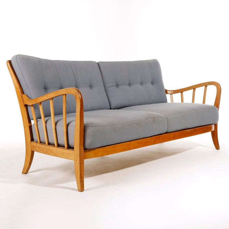 Mid-20th Century Bench Seette Seat by Thonet, Attributed to Josef Frank, Wood, 1940 For Sale