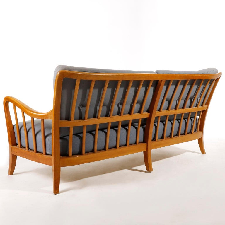 Bench Seette Seat by Thonet, Attributed to Josef Frank, Wood, 1940 For Sale 1