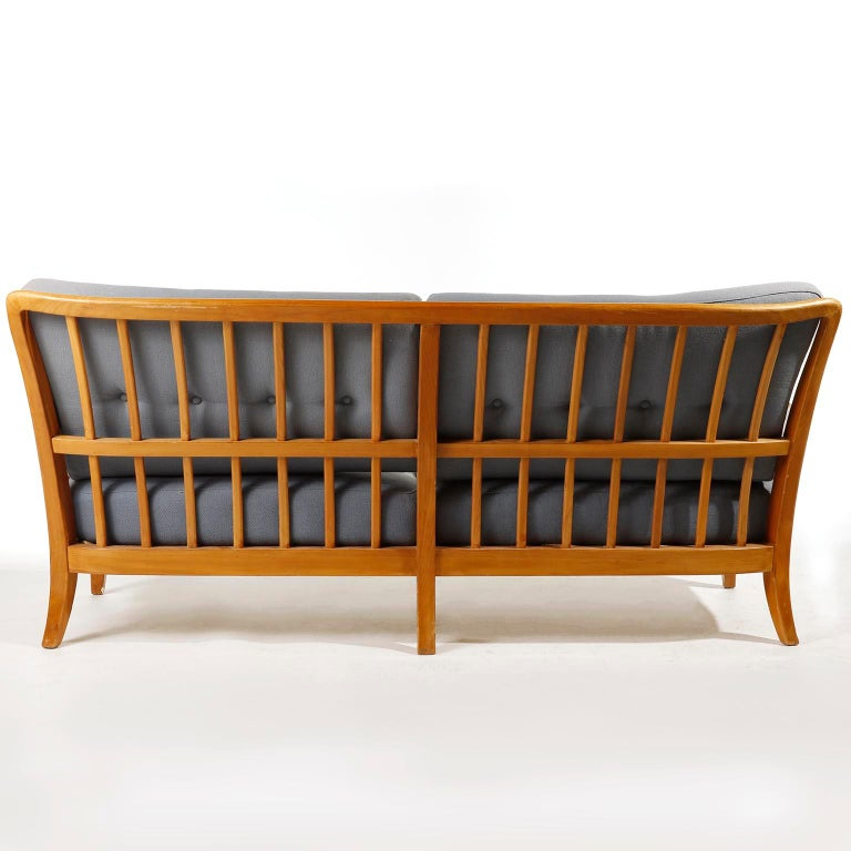 Bench Seette Seat by Thonet, Attributed to Josef Frank, Wood, 1940 For Sale 2