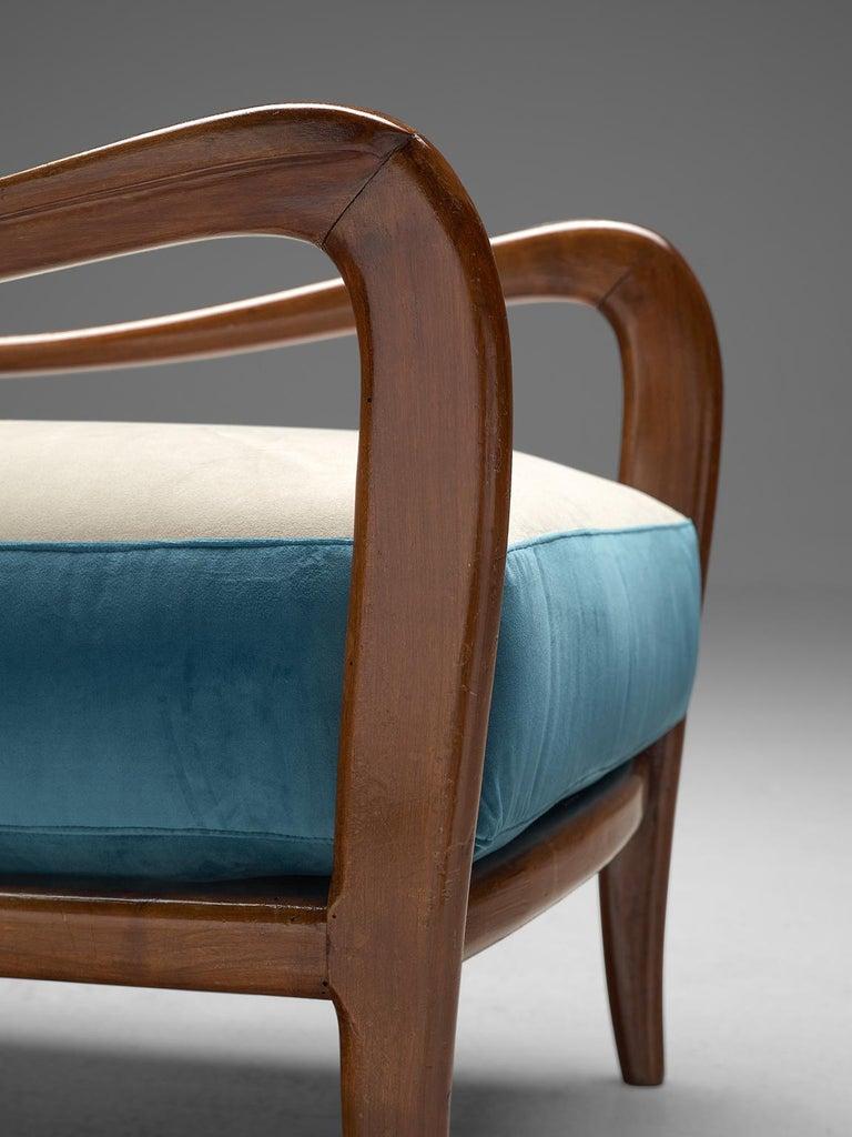 Italian Armchair in Walnut, 1960s For Sale 2