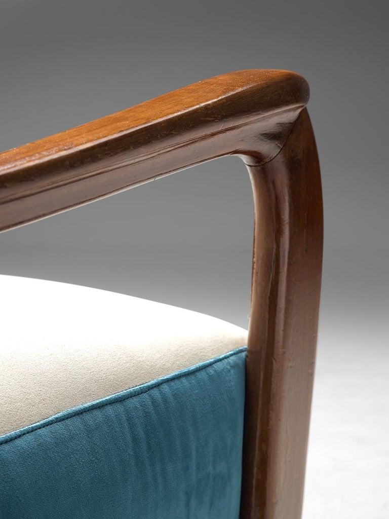 Italian Armchair in Walnut, 1960s For Sale 3