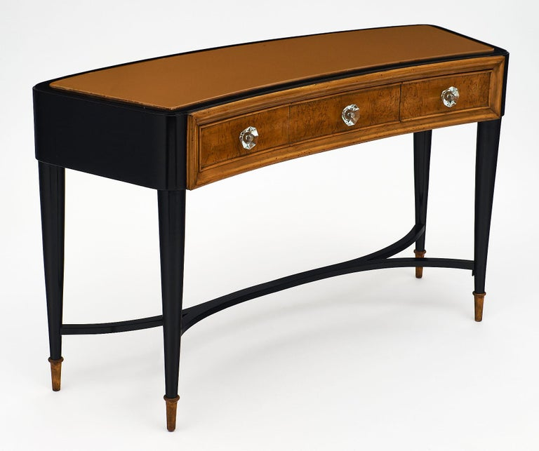 Mid-Century Modern Paolo Buffa Style Italian Console or Vanity For Sale