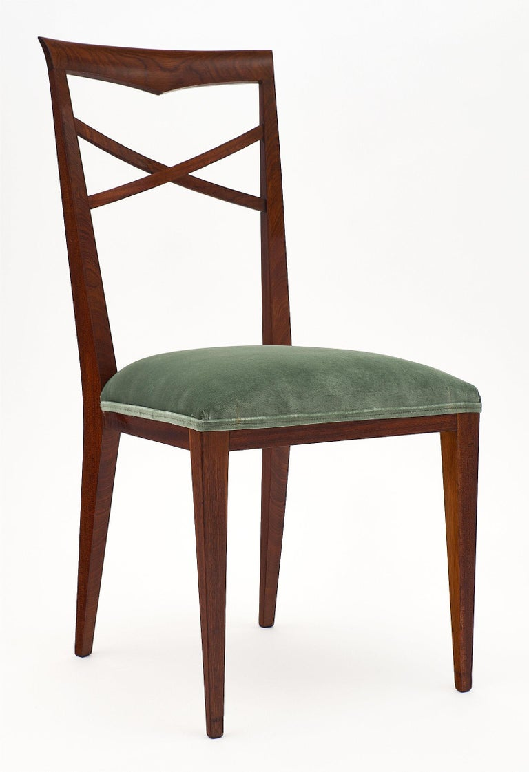 Mid-Century Modern Paolo Buffa Style Italian Dining Chairs For Sale