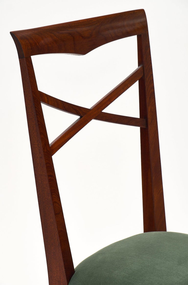 Paolo Buffa Style Italian Dining Chairs In Good Condition For Sale In Austin, TX
