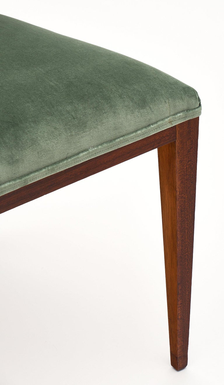 Velvet Paolo Buffa Style Italian Dining Chairs For Sale