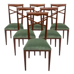 Paolo Buffa Style Italian Dining Chairs