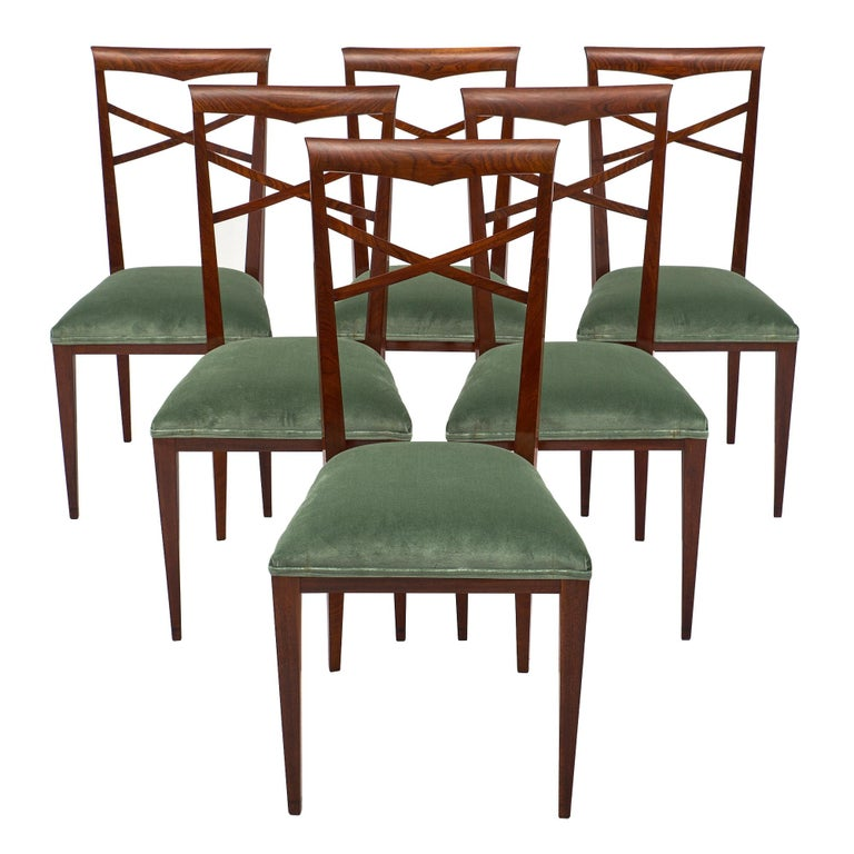 Paolo Buffa Style Italian Dining Chairs For Sale
