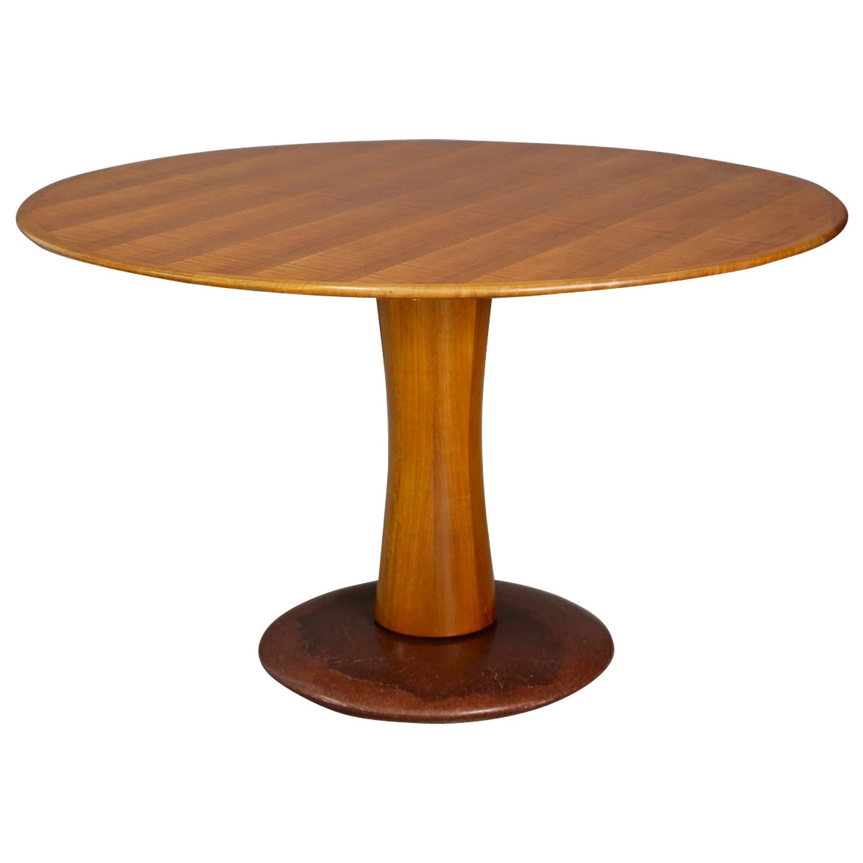 Paolo Buffa Table Midcentury in Marble and Wood, from 1950s