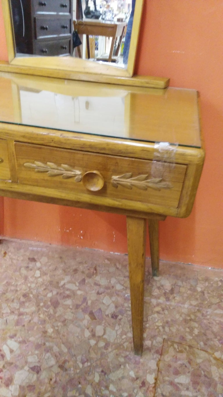 Hand-Crafted Paolo Buffa Toilet with Mirror For Sale