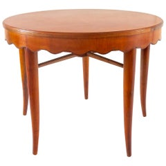 Paolo Buffa Unique Round Dining Table Cherrywood, 1950