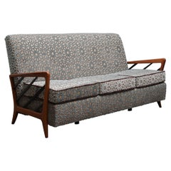 Paolo Buffa Velvet and Beechwood Sofa, 1960