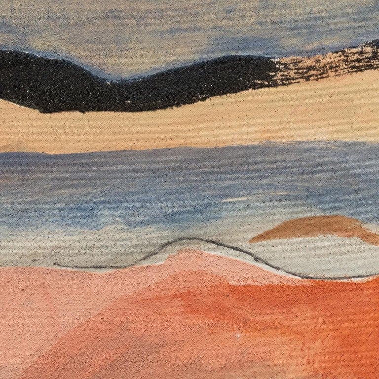 Il Passaggio della Nuvola Nera (The Passage of the Black Cloud) - Painting by Paolo Buggiani