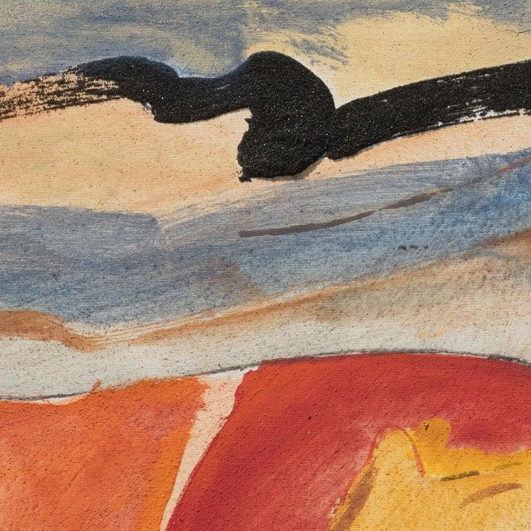 Il Passaggio della Nuvola Nera (The Passage of the Black Cloud) - Expressionist Painting by Paolo Buggiani