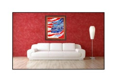 Paolo Corvino Oil Painting On Canvas Signed United States Large American Artwork